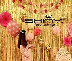 wedding backdrop garland 3ftx8ft gold foil fringe curtain party fringe backdrop