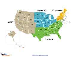 Images Of The Map Of The United States by Free Usa Region Powerpoint Map Free Powerpoint Templates