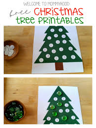 montessori tree printable christmas tree dot printables for practicing letters numbers and