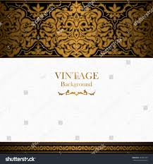 Islamic Invitation Cards Vintage Background Islamic Style Ornament Ornamental Stock Vector