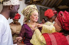 colour themes for nigerian wedding traditional english nigerian fusion wedding