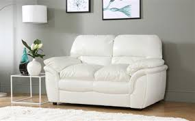 White Leather 2 Seater Sofa 2 Seater Leather Sofas Furniture Choice