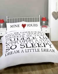 mine u0026 yours white duvet cover quilt bedding set white black red