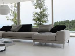 canapé d angle contemporain grand canapé d angle roche et bobois en cuir gris roche bobois