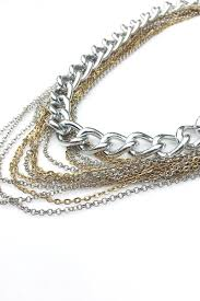 vintage necklace chains images Maisie 2 in 1 necklace vintage gold mixed silver chains jpg