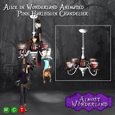 Tea Cup Chandelier Second Life Marketplace Alice In Wonderland Animated Pink