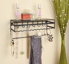 on the shelf accessories black 13 5 wall mount jewelry accessory storage