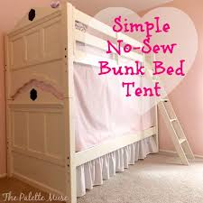 Simple NoSew Bunk Bed Tent The Palette Muse - Tent bunk bed