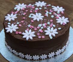 Cake Photos Pink Choc Edible Flower Cake Chocolate Cake Pictures And