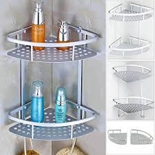 etagere aluminium cuisine allright 2 pcs étagère d angle salle de bain murale aluminium