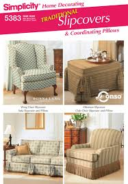 slipcovers for sofa loveseat sewing pattern 5383 simplicity