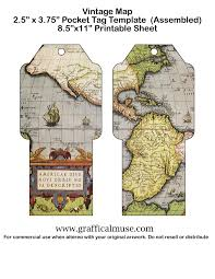 Vintage Maps Free Printable Pocket Tags Vintage Maps The Graffical Muse