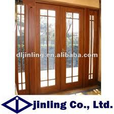Exterior Wood Door Manufacturers Teak Wood Designer Entry Door Wood Framed Glass Lowes Exterior