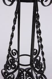 wrought iron plant stand base holder curved nice design rooftop