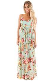 pink boutique dresses mint floral print open back maxi dress lime lush boutique