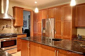 best wall color for kitchen with cherry cabinets kitchen design nanaimo fir floors and custom cherry cabinets