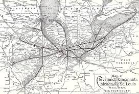 Southern Ohio Map by Railroads 2