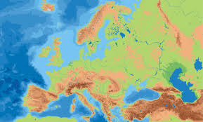 Geographical Map Of Europe by Europe Physical Map