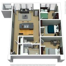 Floor Plan Of 3 Bedroom Flat Apartment Floor Plans Near Marquette The Marq