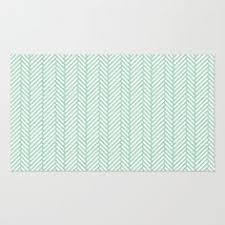 Shop For Area Rugs Mint U0026 White Chevron Zig Zag Rug Chevron Products And Rugs