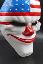 Payday Halloween Costume Payday 2 Game Mask Dallas Wolf Chains Hoxton Heist Clown Halloween