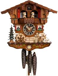 Wood Clock Designs by Furniture Chic Moving Wood Chopper And Dancers Chalet 1 Day
