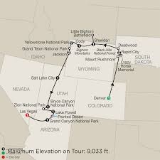 Map Of Zion National Park America National Park Vacation Packages U0026 Tours Globus