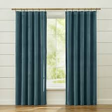 Blue Green Curtains Sterling Blue Curtains Crate And Barrel Crate And