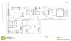 Floor Plan Furniture Symbols Standard Living Room Furniture Symbols Set Stock Vector Image