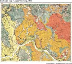 Geological Map History Of Geological Survey In Korea