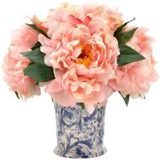 Peony Arrangement Peony Faux Flowers Joss U0026 Main