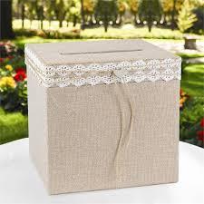 urne de mariage urne de mariage rustique en toile de jute