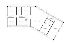 plan de maison en v plain pied 4 chambres plan maison plain pied 4 chambres avec suite parentale exposition