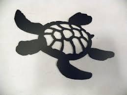 Sea Turtle Home Decor Amazon Com Turtle Swimming Silhouette Black Metal Wall Art Home