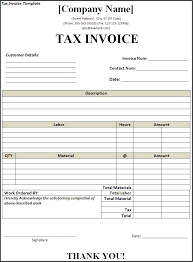 Invoice Template Excel Free Tax Invoice Template All Free Templates Excel Word Templates