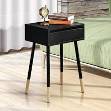 furniture of america talen mid century modern 1 drawer side table