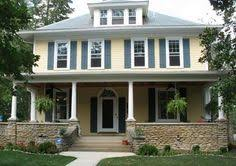 image result for mastic colonial yellow siding house colors