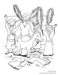 palm sunday coloring pages eson me