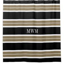 Black Tan Curtains Tan And White Shower Curtains Zazzle