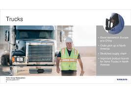 volvo trucks website volvo ab adr b 2017 q2 results earnings call slides volvo ab
