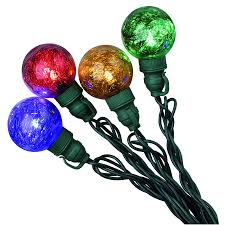 Outdoor Christmas Star Lights by Shop Holiday Living 25 Count 12 Ft Constant Multicolor G40 Led