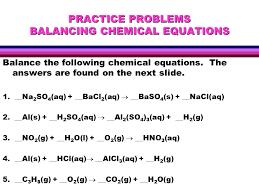 balancing equations worksheet template balance equations