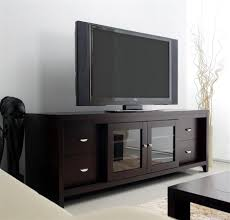 media console with glass doors clarkston lcd tv stand in solid oak w cappuccino finish u0026 sliding