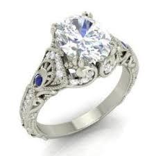 topaz engagement ring vintage white topaz engagement rings diamondere
