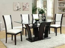 shaker espresso 6 piece dining table set with bench espresso dining set acme 7 collection white leather like vinyl