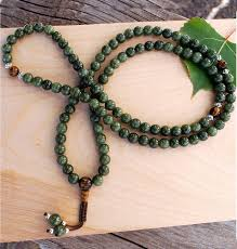 jade bead necklace images Dark mala jpg