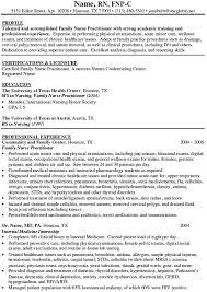 Resume Vitae Sample by Family Nurse Practitioner Resume Samples And Registered Nurse