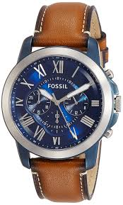 Chp Code 1141 Amazon Com Fossil Fs4812 Grant Chronograph Black Leather Watch