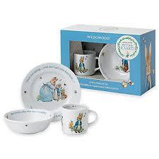 wedgwood rabbit nursery set wedgwood rabbit 3 porcelain nursery set in blue