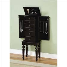 Large Jewelry Armoire Furniture Black Storage Armoire Black Wood Armoire Black Corner